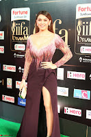 Hansika Motwani in Glittering Deep Neck Transparent Leg Split Purple Gown at IIFA Utsavam Awards 015.JPG