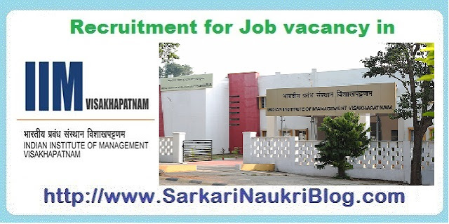 Naukri Vacancy Recruitment IIM Visakhapatnam