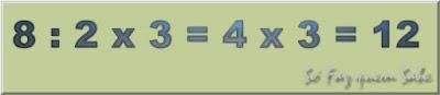 A Hierarquia das Operações Matemáticas. Multiplicação e Divisão têm o mesmo nível de prioridade, efetua-se primeiro o que vier antes.