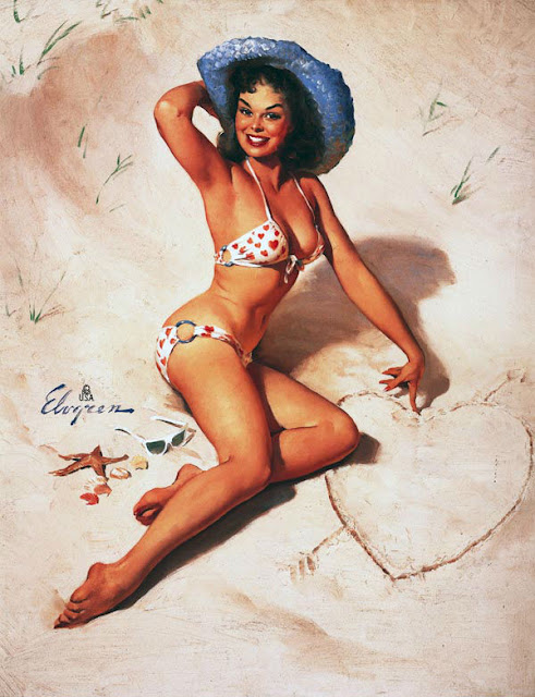 Vintage Paintings of Beautiful Woman's 10