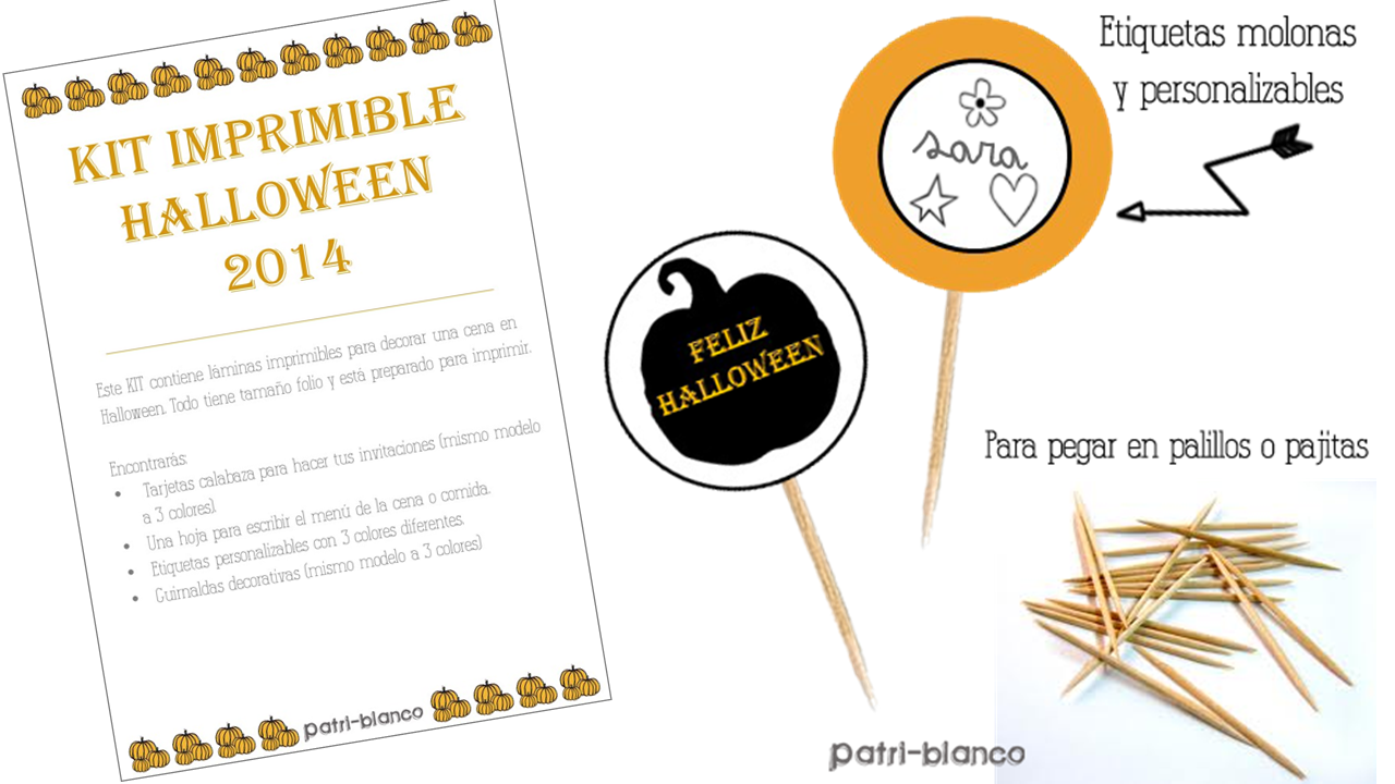 Kit especial halloween 2014