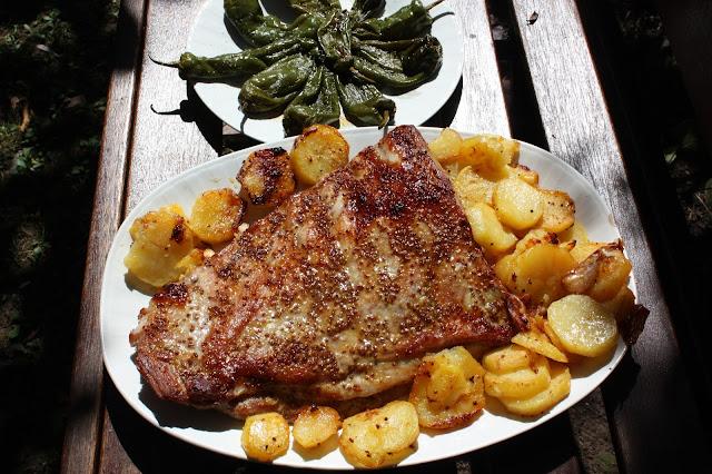 costillar de cerdo con mostaza, miel y soja