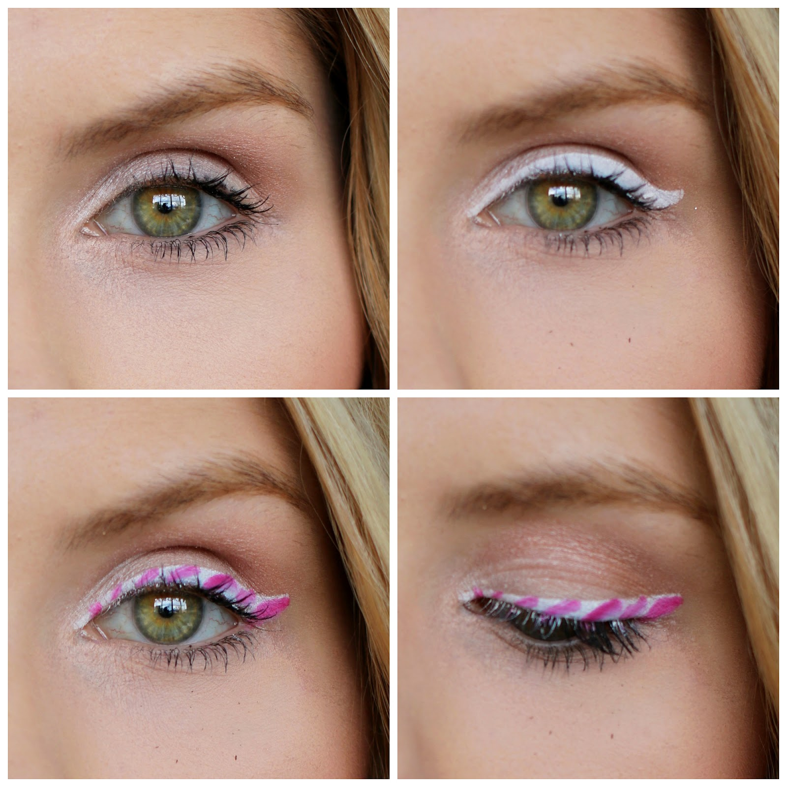 Easy and Cute Candy Cane makeup for Christmas