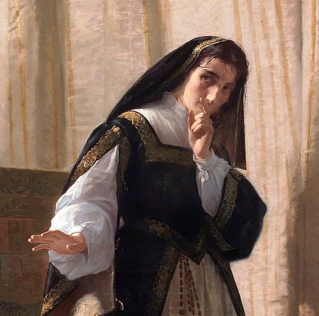 Demencia de Doña Juana de Castilla (detalle), 1866