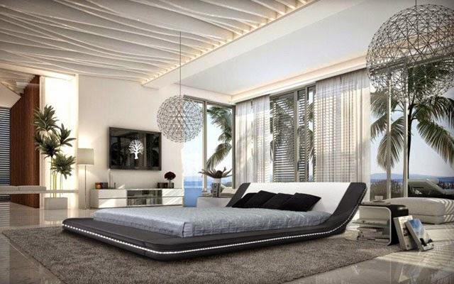habitación con cama baja