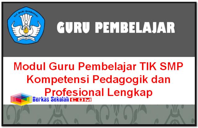 Modul Guru Pembelajar TIK SMP Kompetensi Pedagogik dan Profesional Lengkap