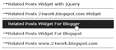 How to Add Related Post Widget in Blogger