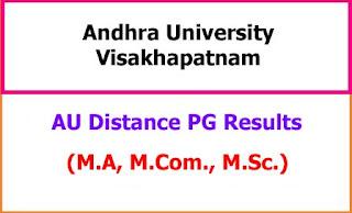 AU Distance PG Results