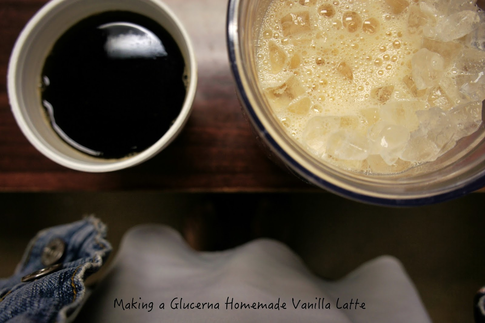 Making a hold-me-steady-till-lunch Glucerna Homemade Vanilla Latte