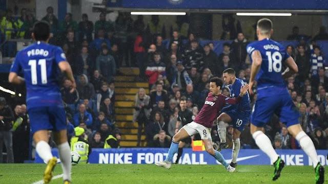Hasil Liga Inggris: Hazard Bawa Chelsea Atasi West Ham dan Rebut Posisi Tiga