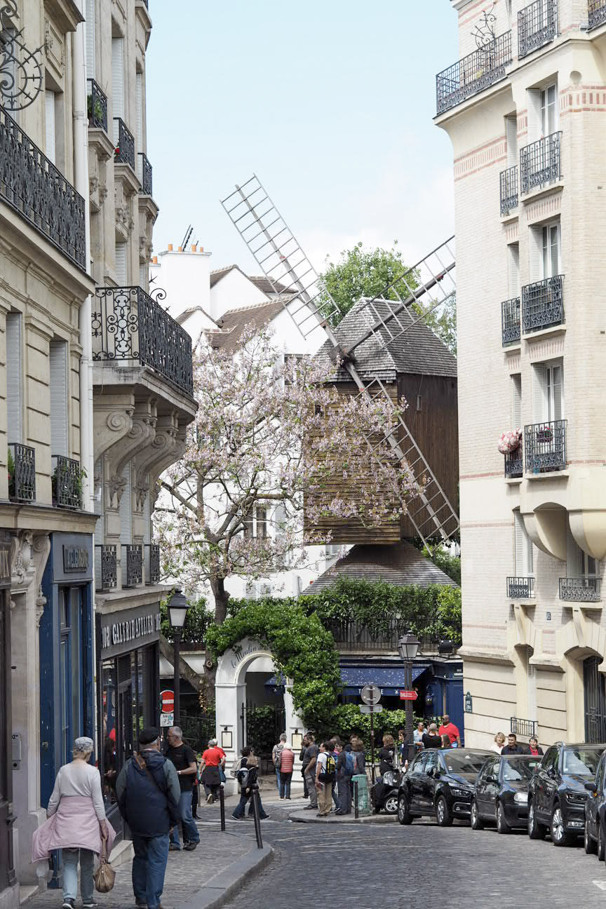 Windmill in Montmartre, Paris