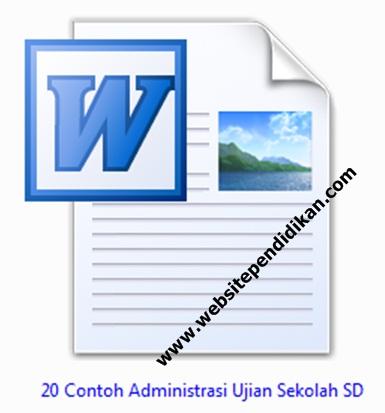 20 Contoh Format Administrasi Ujian Sekolah (US) SD