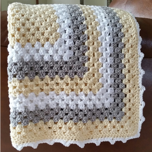 Free Crochet Pattern For Granny Square Baby Blanket : Crochet For Children: Granny Square Baby Blanket - Free ...