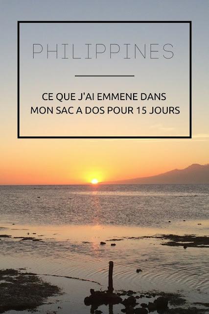 PHILIPPINES : Découvrez ce que j'ai emmené dans mon sac à dos pour 15 jours ! www.by-laura.fr