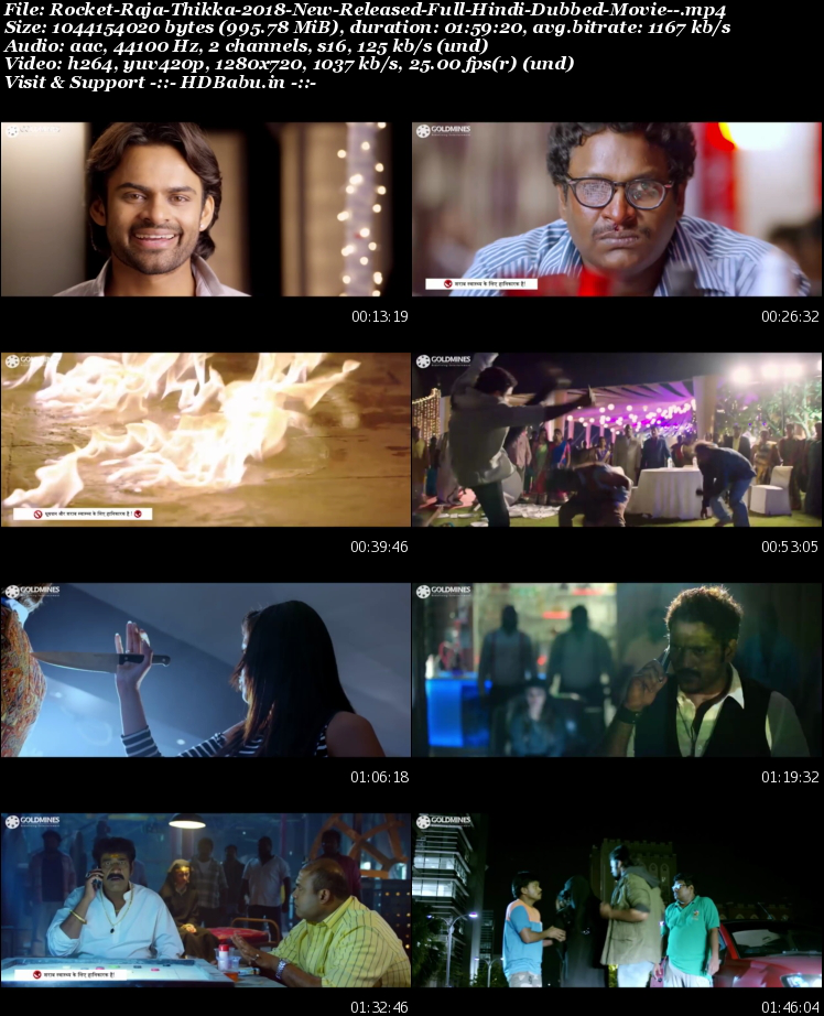 rocket raja hindi dubbed full movie download