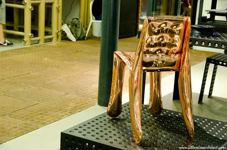 Zięta meble, dmuchany metal, stołek Plopp, stołek Zięta