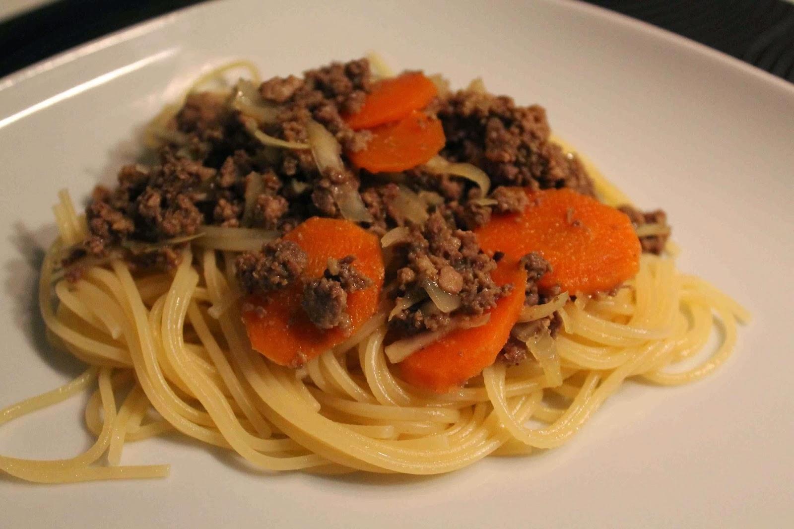 pasta med curry köttfärssås