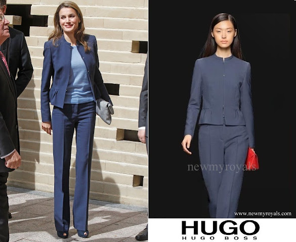 Queen Letizia wore HUGO BOSS PantSuit