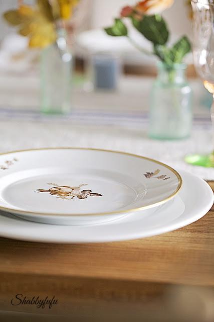 royal copenhagen dishes thanksgiving table