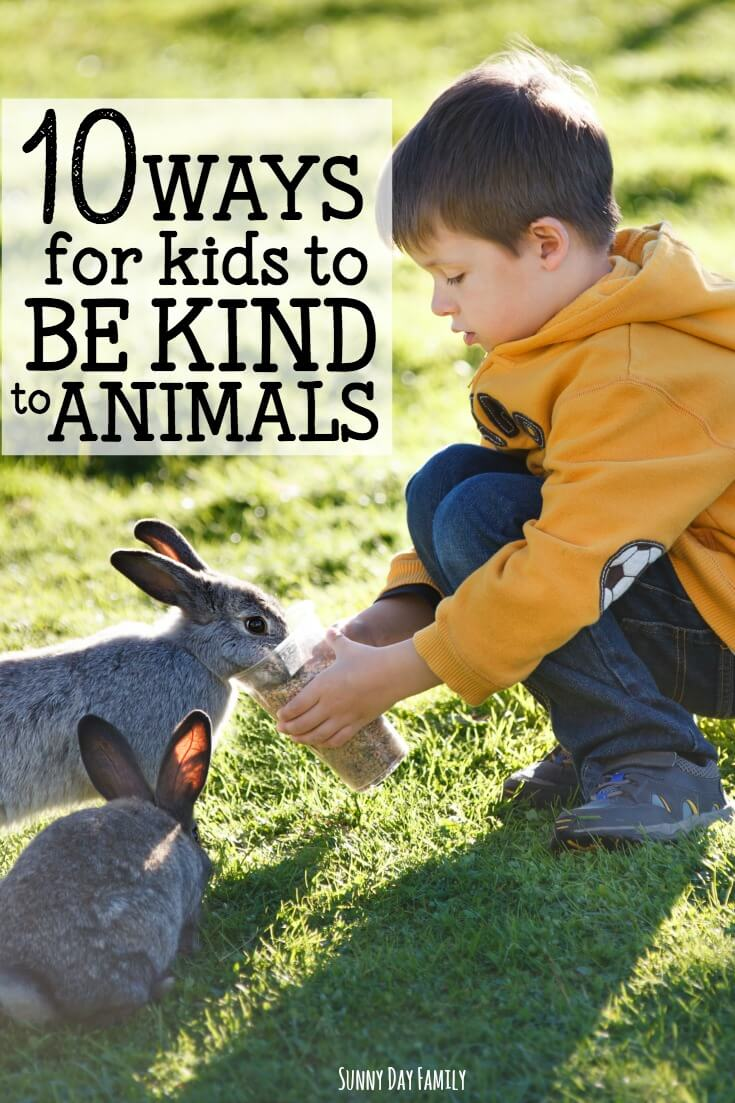 Celebrate Be Kind to Animals Week with these 10 kindness activities for kids! Help kids learn about kindness to animals with pet activities and kindness to animals in their world. So many ideas to practice caring and empathy to animals!