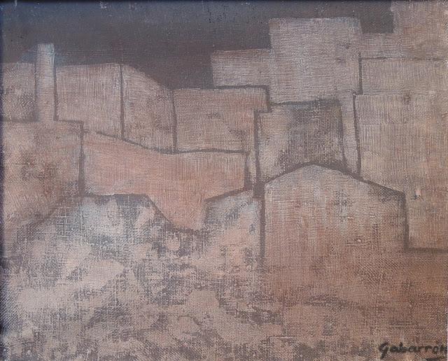 Cristóbal Gabarrón arte cuadro abstracto construcciones