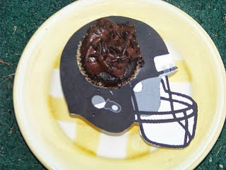 Football Helmet Cupcake Printable
