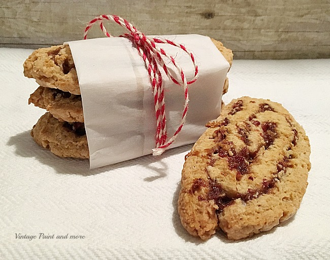 Vintage Paint and more - a not too sweet bar cookie made with a delicious date and nut filling your family will love