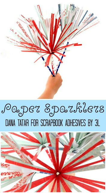DIY Paper Sparklers Tutorial by Dana Tatar for Scrapbook Adhesives by 3L