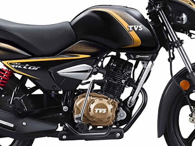 TVS Victor Premium Edition fuel tank & engine