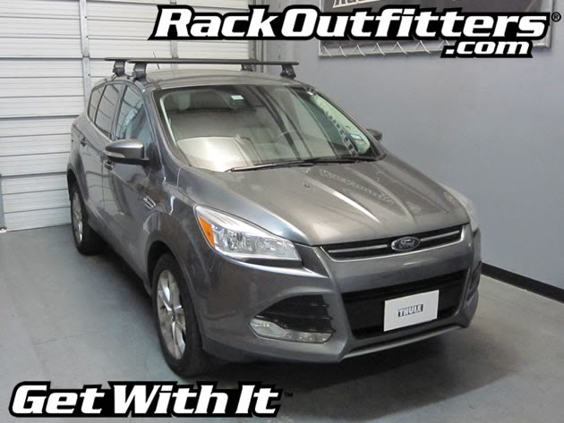 New Ford Escape Thule Rapid Traverse Black Aeroblade Roof