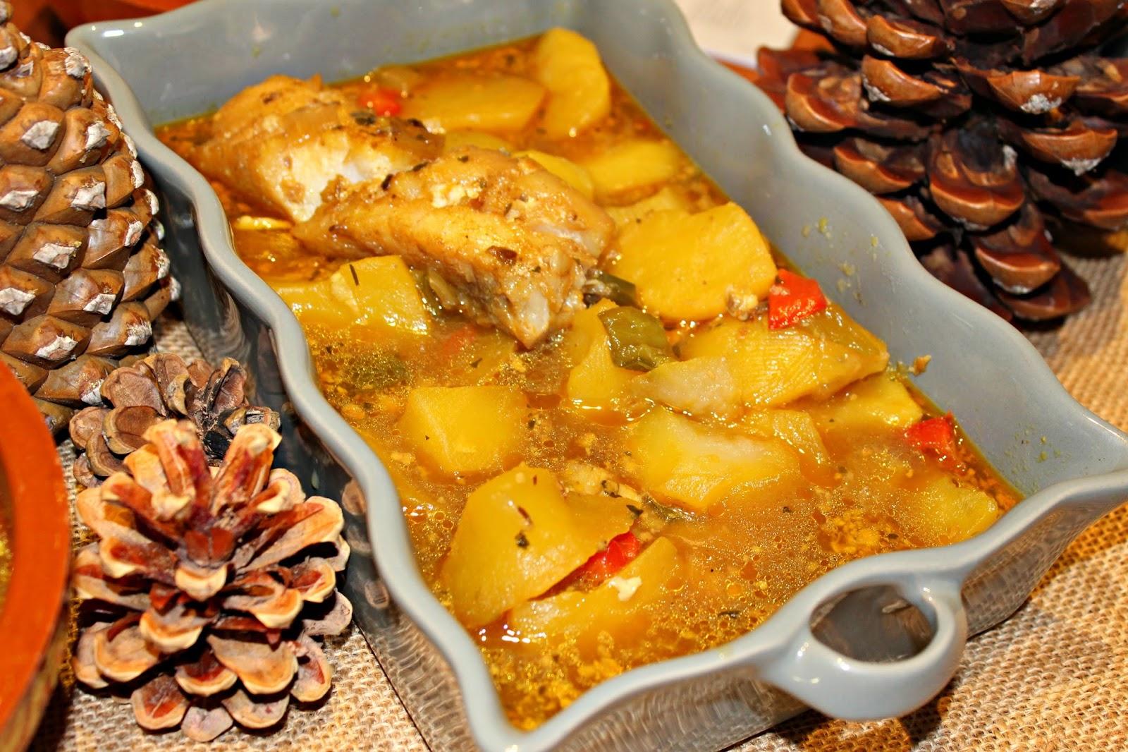 Guiso de patatas con setas y bacalao - Bacalao con garbanzos y patatas ...