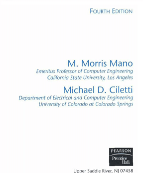 Digital Design 4th Edition By Morris Mano