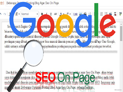 Beberapa Optimasi Posting Blog Agar Seo On Page