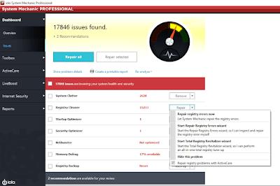 Screenshot System Mechanic Pro 17.5.0.116 Full Version