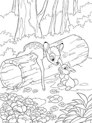 Gambar Mewarnai Bambi - 1