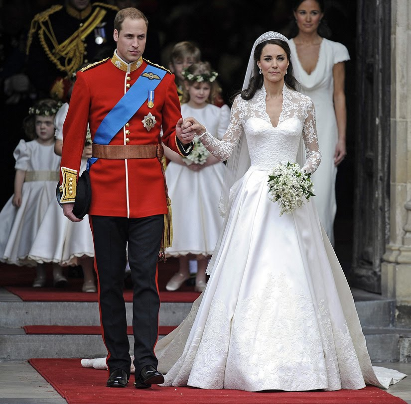 Kate middleton wedding photos including the jewelry cakes and more the duke and duchess of cambridge junglespirit Images