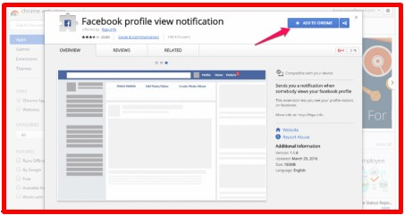 Facebook Profile View Notification