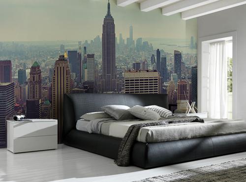 New York fototapet manhattan skyskrapor tapet sovrum 3d