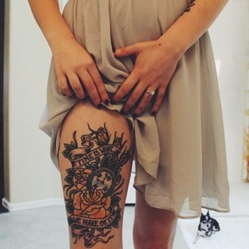front thigh tattoos