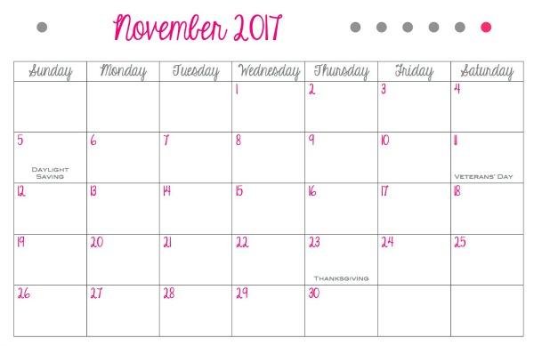 create printable monthly calendar