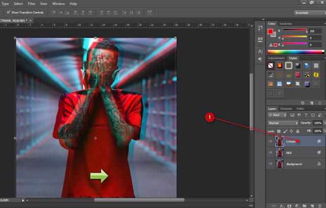 Cara Membuat Foto 3D Anaglyph Keren Di Photoshop