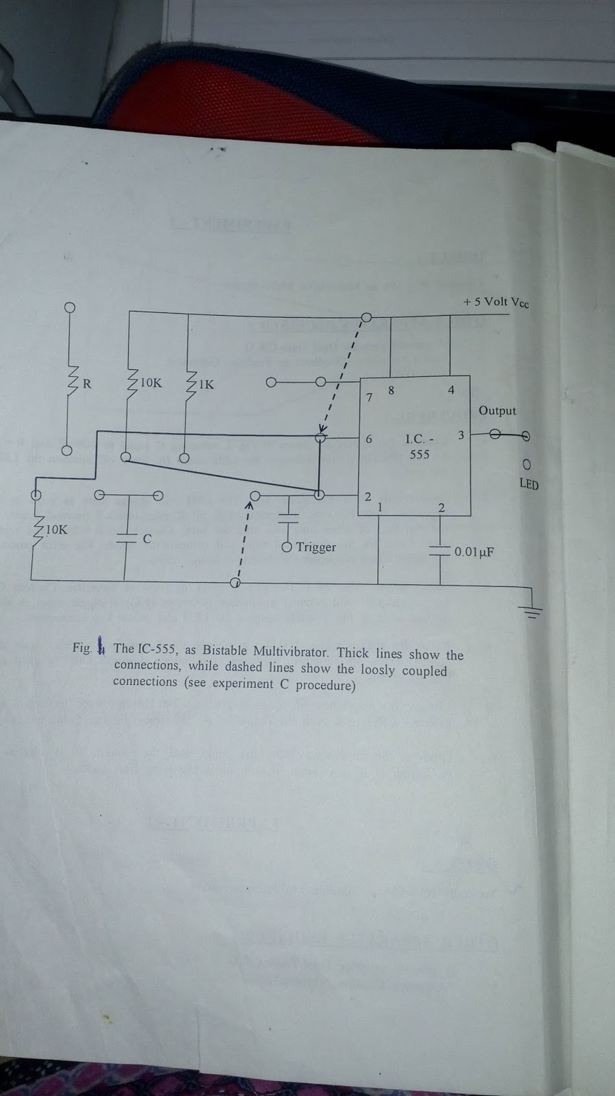 Some Related Things For Engineering Students Practical Files And The Above Schematic Shows 555 Timer Bistable Multivibrator Circuit Study Of Ic