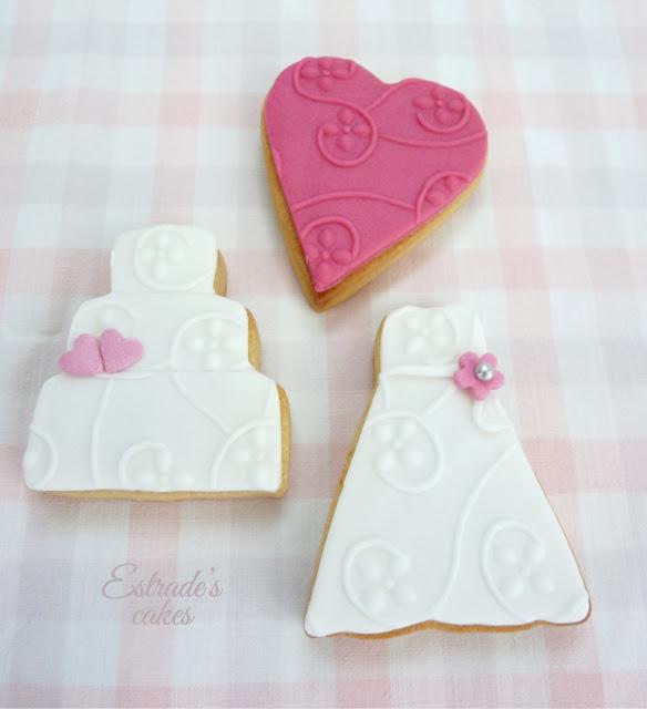 galletas con fondant para boda - 2
