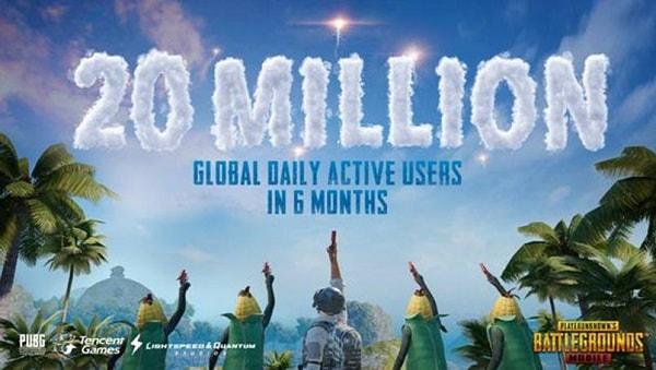 لعبة Pubg تحقق رقماً قياسياً بـ20 مليون مستخدم نشط يومياً