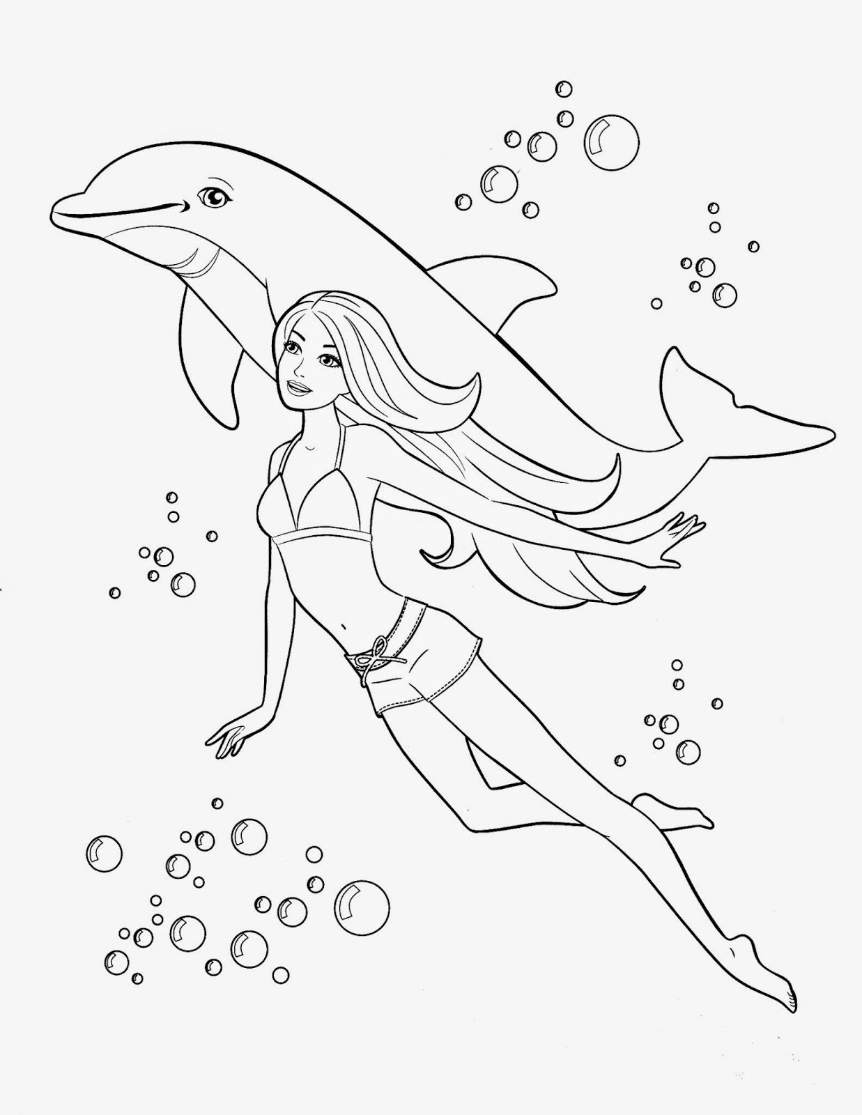Coloring Pages: Barbie Free Printable Coloring Pages