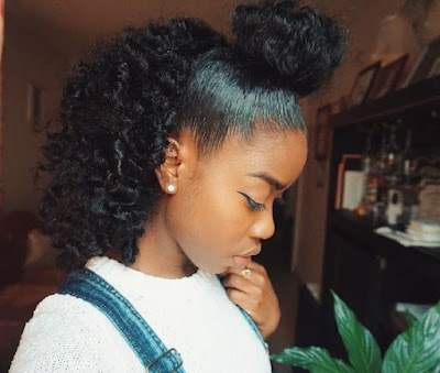 Check out these super simple and sexy curly hairstyles like the messy bun. Space buns, bangs with buns and even more buns styles for you to love and rock!