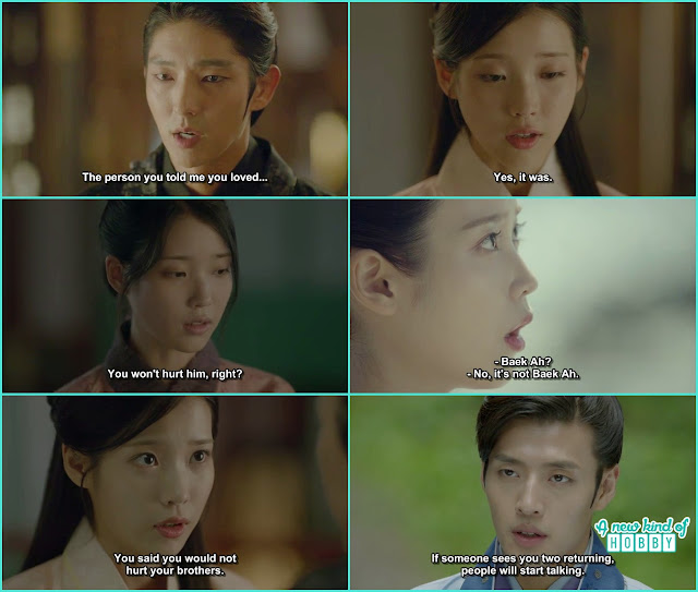 king wang so then remmeber the old incidents when hae so told him she like someone else  - Moon Lovers Scarlet Heart Ryeo - Episode 19 (eng sub)
