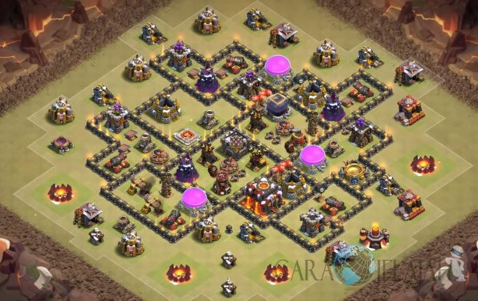 Base War TH 8 di Clash Of Clans Terbaru 2017 Tipe 5