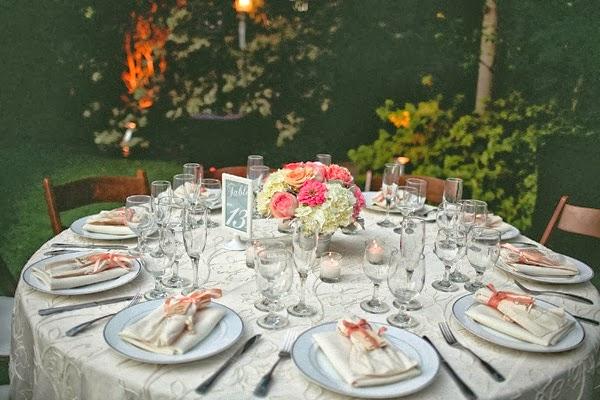 mesa decorada para eventos