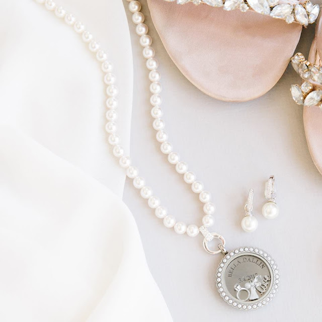 Origami Owl White Swarovski Pearl Strand for Living Lockets available at StoriedCharms.com